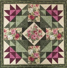 Jubilee Rose Quilt Pattern Jubilee Rose Quilt Pattern Image Size: 720 x 728 Source Sampler Quilts, Lap Quilts, Small Quilts, Mini Quilts, Patchwork Quilt Patterns, Barn Quilt Patterns, Pattern Blocks, Half Square Triangle Quilts, Square Quilt
