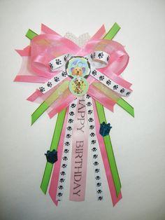birthday ribbon bow corsage - Google Search