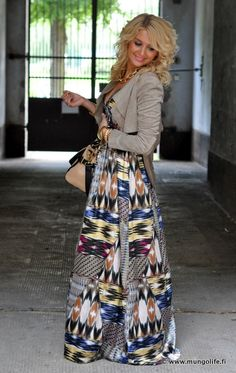more maxi lovin with the colors and jacket!