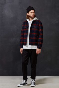 CPO Plaid Wool Trucker Jacket