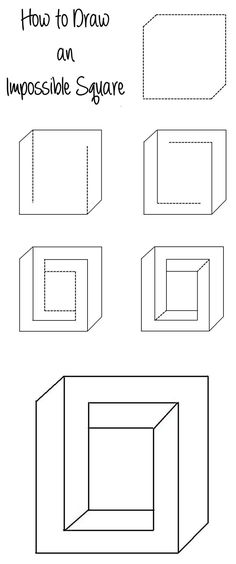 How to Draw an Impossible Square Illusion - http://www.moillusions.com/how-to-draw-an-impossible-square-illusion/