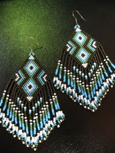 seed bead native american style earrings