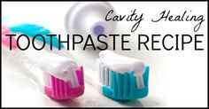 xylitol or green stevia powder 2 tsp. real sea salt 20 drops essential oil (I use peppermint) 10 drops trace minerals Toothpaste Recipe, Homemade Toothpaste, Calcium Magnesium, Stevia, Make Your Own Toothpaste, Heal Cavities, Natural Cures, Natural Health, Products