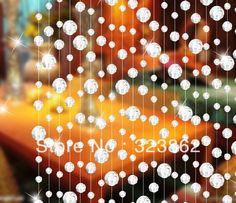 Envío gratuito de ventas al por mayor de vidrio de cristal cordón de cortina de la puerta para& decoración de la ventana