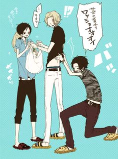 ASL One Piece Comic, One Piece Ship, One Piece 1, Family First, First Love, Ace Sabo Luffy, Kawaii Potato, One Piece Pictures, One Peace