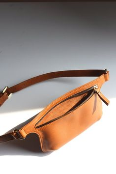 Camel Brown Leather Belt Bag Waist Bag Fanny Pack   Etsy Leather Fanny Pack, Leather Belt Bag, Brown Leather Belt, Leather Men, Mens Waist Bag, Leather Wallet Pattern, Hip Bag, Leather Bags Handmade, Leather Projects