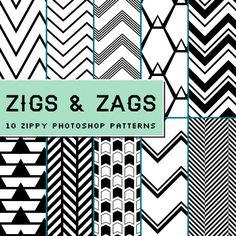{freebie!} Chevron & Zig Zag Photoshop Patterns