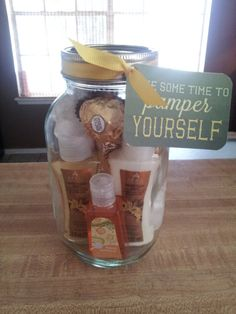 Pamper Yourself Gift Jars - i can make these for the ladies in the office