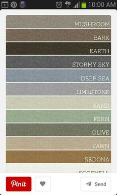 Home Color Palette Earth Tones Bathroom 22 New Ideas Paint Color Schemes, Wall Paint Colors, Interior Paint Colors, Purple Interior, Interior Painting, Exterior Paint Colors For House, Paint Colors For Home, House Colors, Nature Color Palette