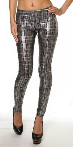 Metallic Brushed Leggings, $35.00 by Appealing Boutique