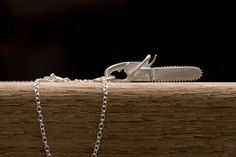 Silver Chainsaw Necklace - Sterling Silver - Free Shipping on Etsy, $70.00