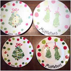 Easy And Fun Christmas Crafts For Kids - Handprint And Footprint Art Health & Fitness - Mastercrafter - DIY Christmas Ideas ♥ Homes Decoration Ideas Fun Christmas Activities, Christmas Crafts For Kids, Kids Christmas, Holiday Crafts, Christmas Plates, Santa Plates, Summer Activities, Christmas Presents, Christmas Decorations