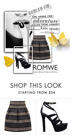 """Romwe!!"" by amrafashion ❤ liked on Polyvore featuring GUESS and Kate Spade"