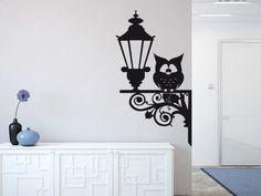 Wandtattoo - Wandtattoo Eule auf Laterne - ein Designerstück von wandtattoo4all bei DaWanda