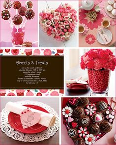 MOOD BOARD OR PLANNING valentine's day party ideas..A way to put together ideas for decorating and more
