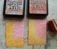 Tutorial about #DistressInk  from Tim Holtz