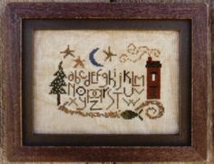 Blue Moon is the title of this cross stitch pattern from Bent Creek - only one left in stock with no re-orders.