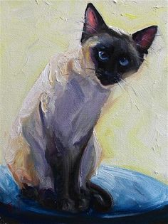"Daily Paintworks - ""Siamese"" - Original Fine Art for Sale - © H.F. Wallen"