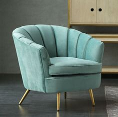 Gorgeous style Tiffany Blue velvet armchair is a classic addition to any setting. Great introduction price and delivery! Living Room Sofa Design, Bedroom Furniture Design, Home Room Design, Living Furniture, Sofa Furniture, Living Room Chairs, Home Living Room, Living Room Designs, Living Room Decor