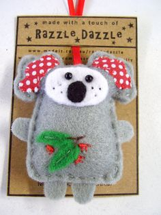 australian koala felt christmas ornament decoration australian animal