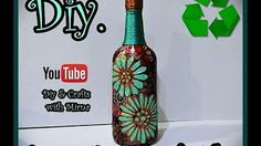 Diy Decorating Glass Bottle Diy & Crafts with Mirna - YouTube