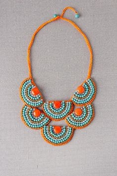 Mission Beaded Bib Necklace