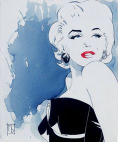 "Saatchi Art Artist Michelle Delecki; Painting, ""Marilyn: Cold Shoulder"" #art"