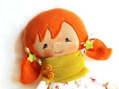 Cloth doll waldorf doll rag doll ragdoll by Fairybugcreativetoys