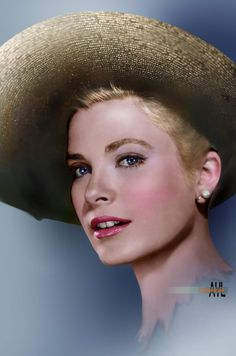 Young Grace Kelly Photo colorized and stylized by Alex Lim Old Hollywood Movies, Old Hollywood Stars, Old Hollywood Glamour, Hollywood Actor, Hollywood Celebrities, Classic Hollywood, Hollywood Divas, Grace Kelly Style, Blond