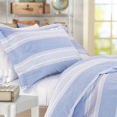 Light Blue Duvet Cover - Home Furniture Design King Size Comforter Sets, King Size Comforters, Queen Comforter Sets, Duvet Sets, Duvet Cover Sets, King Comforter, Pottery Barn, Chambray, 100 Cotton Duvet Covers
