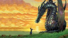 Posterhouzz movie tales from earthsea dragon ghibli anime hd wallpaper background fine art paper print poster A Wizard Of Earthsea, Tales From Earthsea, Hayao Miyazaki, Fantasy World, Fantasy Art, Live Backgrounds, Fantasy Book Series, Dragon Movies, Birthday Wallpaper