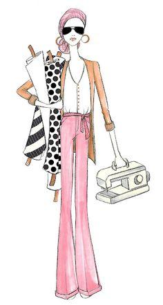 Sewing Girl: Fashion Illustration