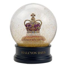 In honour of Her Majesty's Diamond Jubilee...a coronation crown snow globe.