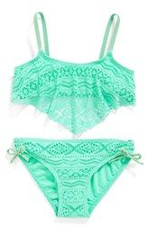 Gossip Girl 'Little Wild One' Two-Piece Swimsuit (Big Girls)