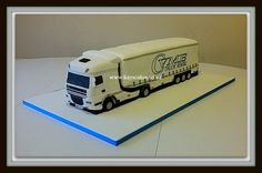 DAF 105 Lorry Cake with Trailer and Curtains  Cake by kayscakes
