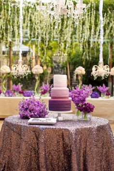 Radiant Orchid Wedding Cake! | Photo by Anna Kim