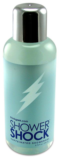 Shower Shock Caffeinated Body Wash - Pepperminty scent, approx. 200 mg of caffeine per shower.