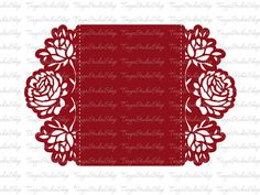 Digital SVG DXF ai CRD eps Wedding invitation Rose