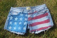 my DIY american flag shorts! happy fourth of july!