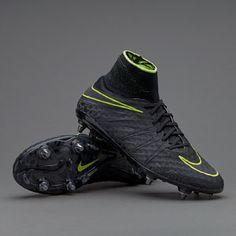 Nike Hypervenom Phantom II SG-Pro - Black Volt รองเท้าฟุตบอล 1b3815ef079ec