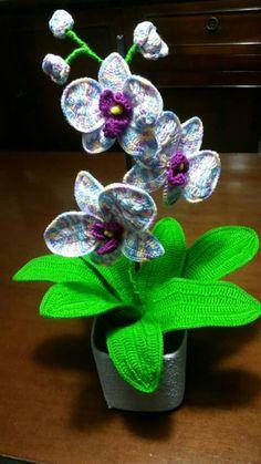 Orchidea a uncinetto  crochet orchid Clara Fili e colori facebook