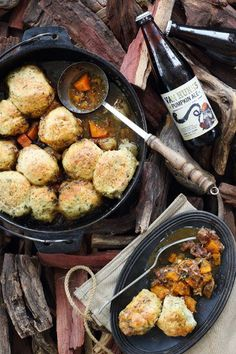 This beef & pumpkin potjie with feta & herb dumpling is really a one pot wonder. The slow cooked beef shin is melt-in-the-mouth.
