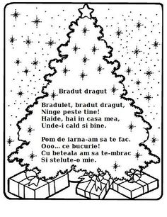 Poezie - Bradut dragut Christmas Colors, Christmas Time, Christmas Decorations, Merry Christmas, Anul Nou, Little Pigs, Useful Life Hacks, Kindergarten Worksheets, Nursery Rhymes