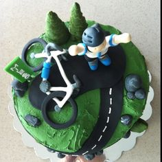 60th birthday cycling cake