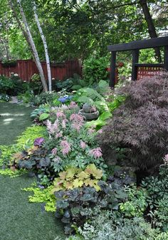 Beautiful shade garden.