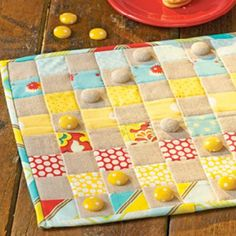 Quilted Checkers Board Game