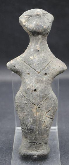 RARE Neolithic Ceramic Vinca Anthromorphic Figurine C 4500 | eBay