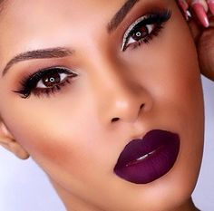 Flawlesss Makeup Stunning Deep Purple Lip Raschelle Msroshposh MOTD Makeup Of The Day Red Eyeshadow, Purple Lipstick, Matte Lipstick, Lipstick Colors, Lip Colors, Lipsticks, Plum Lips, Avon Lipstick, All Things Beauty