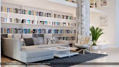 extraordinary-living-room-gray-white-lounge-home-library-photo-836x470