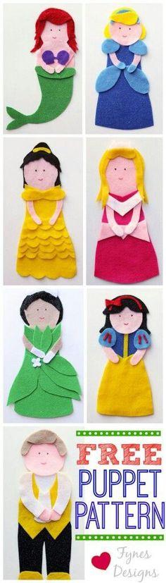 .free felt puppet patterns